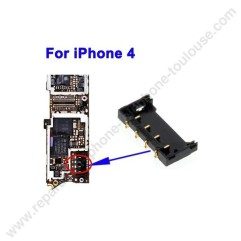 soudure sur carte mere connecteur de batterie sur iphone 4s a toulouse applepatrice pas cher